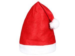 Weihnachtsmütze Nikolausmütze Erwachsene rot mit Bommel Modell: 32