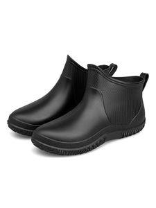 Rutschfeste Regenstiefel Für Damen Niedrige Regenstiefel Einfarbige Arbeitsschuhe,Farbe: Schwarz,Größe:39