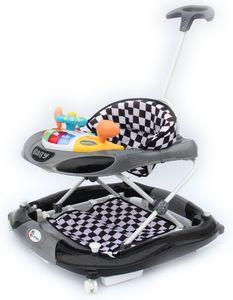 Clamaro Gehfrei mit Schieber und Schaukelfunktion  Lauflernhilfe Laufhilfe Baby Walker Babywippe Gehhilfe, Farbe:Schwarz mit Schaukel
