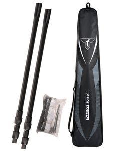 Talbot Torro Teleskop-Netz-Set, höhenverstellbares Freizeit-Netz für Badminton, Höhe: 1,25-1,55m, Breite 6,10m, Komplettset in Tasche