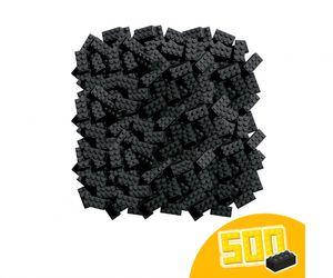 Simba Toys Bausteine Blox 500 schwarze 8er Steine lose