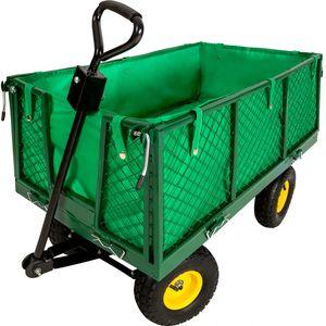 tectake Bollerwagen max. 550kg - grün