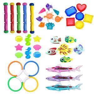 Unterwasser-Tauchspielzeug Unterwasser-Schwimmspielzeug, Tauchringe, Fischspielzeug, Sommer-Tauchtraining Pool-Schwimm-Tauchspielzeug Farbe 40 STÜCKE