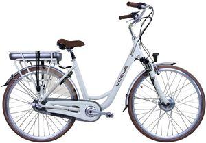 Vogue E-Bike Stadt Fahrräder Basic 28 Zoll 49 cm Damen 3G Rollerbrakes Creme