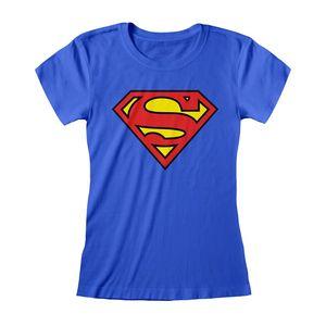 Superman - T-Shirt für Damen PG973 (L) (Königsblau)