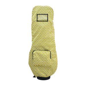 Wasserdichte Golftasche Regenschutzhülle, Regenhülle mit Kapuze für Golftasche, Golf Push Carts, Golfschlägerschutz Farbe Gelb