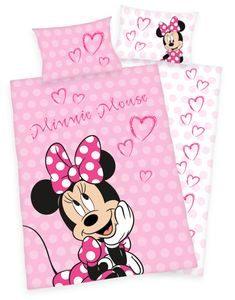 Disney´s Minnie Mouse Kinder Bettwäsche 40x60 + 100x135cm
