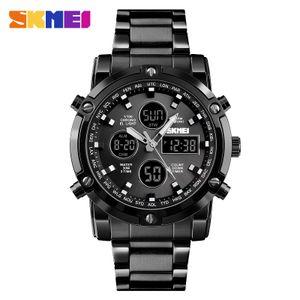 Skmei New Fashion Outdoor Sport Multifunktions-Countdown Herrenuhr Explosionsgeschuetzte wasserdichte elektronische Uhr【schwarze】