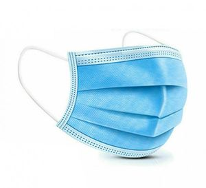 100 Stück Medizinische Einweg Mundschutz OP-Maske 222 Schutzmaske 3-lagig Atemschutz Maske