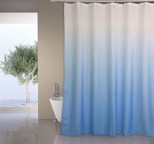 """MSV Premium Anti-Schimmel Textil Duschvorhang - Anti-Bakteriell, waschbar, 100% wasserdicht, mit 12 Duschvorhangringen - Polyester, """"Sugar"""" Blau 180x200cm"""