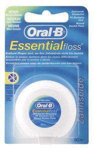 3x Oral B Essential Floss Zahnseide gewachst mit Minzgeschmack a 50m