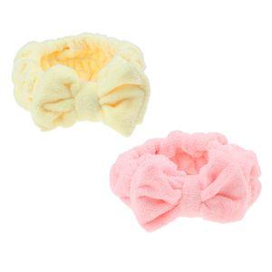 2pcs Bowknot Make-up Kosmetische Dusche Bad Spa Elastisches Haarband Stirnband