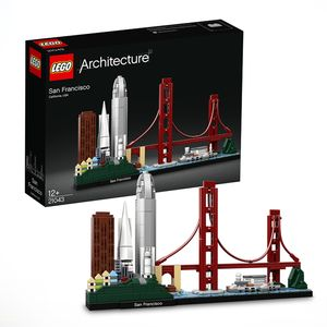 LEGO 21043 Architecture San Francisco Modellbausatz für Erwachsene und Teenager, tolles Geschenk, Skyline-Kollektion mit Golden Gate Bridge