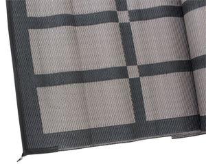 Eurotrail grundplatte Patio250 x 400 cm Polypropylen schwarz/grau