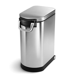 SIMPLEHUMAN Tierfutterbehälter Aufbewahrungsbox Futtertonne Stahl Fodder 25 L