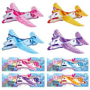 Styroporflieger Einhorn Flugzeuge Gleiter Mädchen ca.18,5 cm Mitgebsel