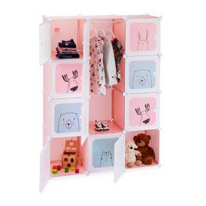 relaxdays Steckregal Kinderzimmer mit 12 Fächern
