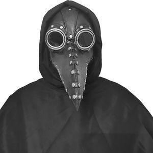 Schnabelmaske Halloween Maske Mittelalter Pest Maske Doktor Arzt Kopfmaske Steampunk Kostüm Zubehör für Halloween