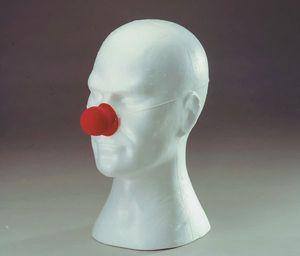 Kostüm Zubehör Latex Clownnase in rot zu Karneval Fasching