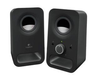 Logitech Z150 PC-Lautsprechersystem, 2 Aktiv-Lautsprecher, 3 Watt RMS, Kopfhörer-Ausgang