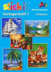 Mini Stecksystem Vorlagenheft XXL Nr. 1 - 19 Motive
