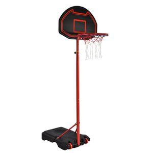 Basketballkorb, höhenverstellbarer Basketballständer mit Rollen, 160-210 cm