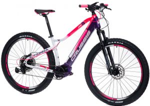 "29 Zoll Elektrofahrrad MTB E-Bike Modell e-Fionna 9.6-M CRUSSIS 2021 720Wh 20Ah Bafang M500 250W 95Nm Pedelec Rahmenhöhe 19"" (47,5 cm) Weiß/Pink/Violett"