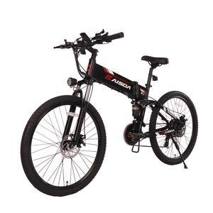 """K1 KAISDA Faltbares E-Bike 26 """"Mountainbike 48V 10AH Elektrofahrrad 500W Schnellste Spead 40KM / H Citybike maximale Belastung 150kg-Schwarz und Rot"""