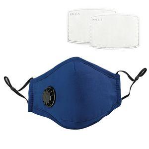 2X wiederverwendbar Atemschutzmaske waschbare mundschutz maske mit 4 filterpads PM 2.5 Stoff maske Blau gesichtsmasken