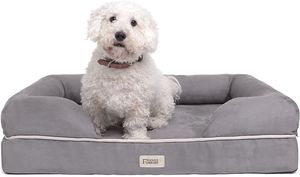 Orthopädisches Hundebett Tierbett Memory Foam Hundesofa Dog Bed  Hundekorb gelenkschonend weich 63x50cm