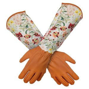 Gartenhandschuhe Damen Damen Thorn Proof Pruning Gartenhandschuhe mit extra langem Unterarmschutz, Rose Pruning Pannenfest