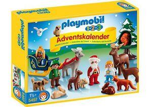 Playmobil 1.2.3.  Adventskalender 2017 Waldweihnacht