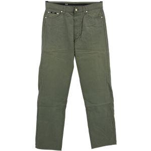 #5496 Hugo Boss, Alabama,  Herren Jeans Hose, Popeline, grau-grün, W 35 L 36