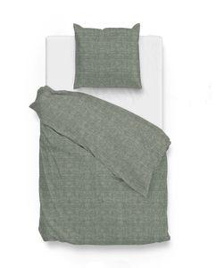 Zo!Home Bettwäsche Lino 1 Bettwäsche 135x200cm + 1 Kopfkissen 80x80cm 100% Baumwolle Army Green