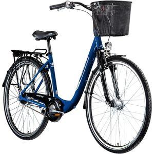 Zündapp Z700 700c Damenfahrrad Hollandrad Damenrad Fahrrad Stadtrad 28 Zoll, Farbe:blau, Rahmengröße:46 cm
