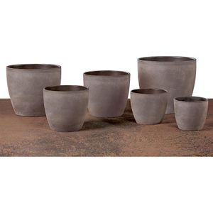 Übertopf Keramik Ø 19 cm Blumentopf taupe