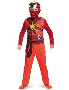Kai Ninja-Kostüm Lego Ninjago für Jungen rot-braun-goldfarben