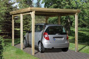 Carport Weka Einzelcarport 617 Gr. 3 Holz kdi + Kunststoff 322x802cm