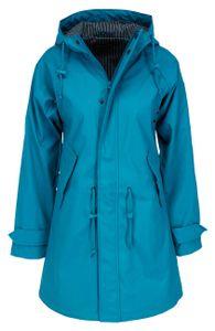 derbe Travel Friese Fisher striped Regenmantel Damen swedish blue blau  38