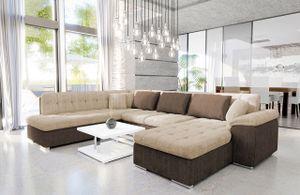 Mirjan24 Ecksofa Niko Bis, Bettkasten und Schlaffunktion, Sofa vom Hersteller, Wohnlandschaft, Polstergarnitur (Cairo 35 + Cairo 22, Seite: Rechts)