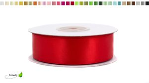 Satinband 25mm, 20 Meter - Doppelseitig, Farbauswahl:rot 250