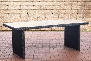 CLP Tisch Avignon, Farbe:schwarz, Größe:200 cm