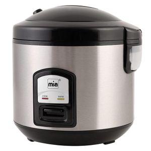 mia RK4508 Perfect Cook Reiskocher Risottomaker Gemüsegarer Multifunktionskocher Multikocher Edelstahl 3in1 400W