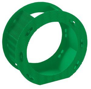 Folia Rundlaternen Rohlinge aus 3D-Wellpappe, Ø 22cm, 1 Stück, grün