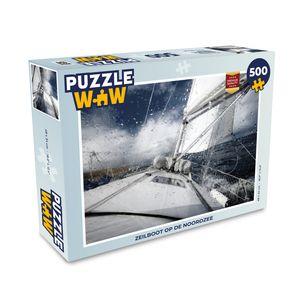 Puzzle 500 Teile - Segelboot - Segelboot auf der Nordsee - Puzzle für Erwachsene und Kinder - 500 Teile Jigsaw Puzzle 48x34 cm