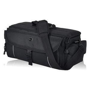 XL Kameratasche KEANU Fototasche :: 10 x Starke Polster Pads, Stativhalterung, 2 Seitentaschen :: Cambridge PRO für Video D-SLR Go Kamera mit Wechselobjektive mit Zubehör (Black Edition)