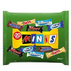 Mars mixed Minis ein Mix aus 20 Mini Schokoriegeln mit 5 Sorten 400g