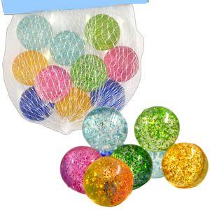 Flummis Glitzer Glitter Bunt 10er Netz ca.25mm Mitgebsel Kinder