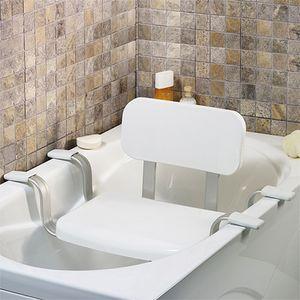Wannen Sitz - Badewannensitz mit Rückenlehne Badestuhl Badhilfe Bad Sitz Badewannenbrett Badestuhl Wannensitz