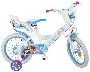 16 Zoll Kinder Mädchen Fahrrad Kinderfahrrad Mädchenfahrrad Mädchenrad Rad Disney Frozen die Eiskönigin Elsa NEW Weiß Toimsa